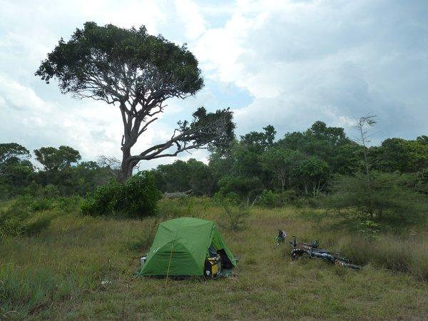 ein idyllischer, versteckter Campingort mit Blick aufs Meer ///// a beautiful, hidden camping spot with sea view