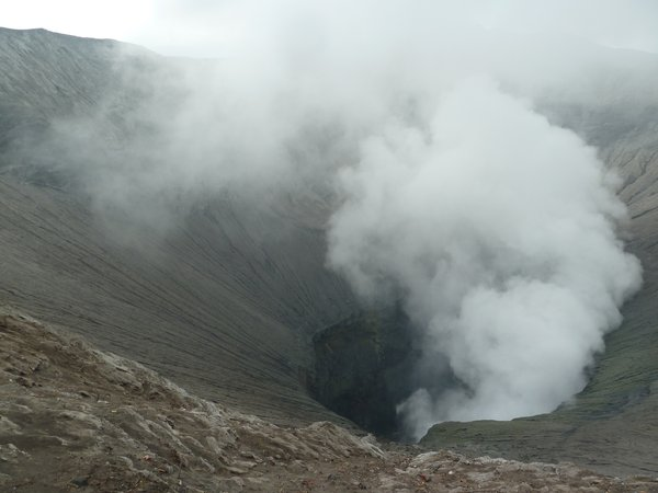 The crater of Bromo ///// Der Krater des Bromovulkans