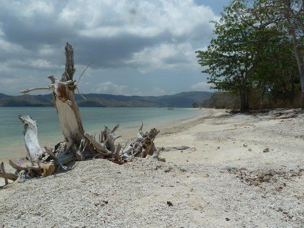 Cycling around Gili Gede - beautiful beaches! ///// Wir radeln auf der Insel Gede umher und sehen viele schöne Strände